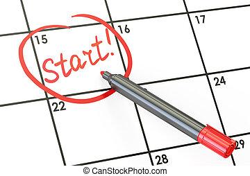 calendar start