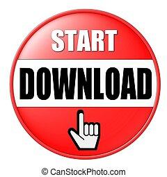 start, downloaden, knoop