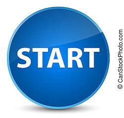 Start elegant blue round button