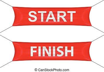 Start finish banner