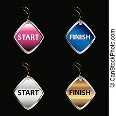 Start finish buttons tag