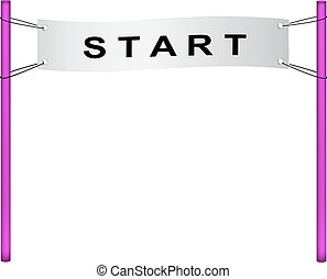 Start flag in retro design