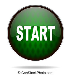 start green internet icon