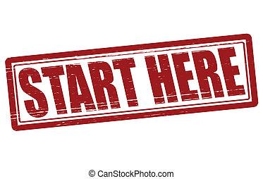 start, här