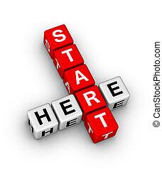 start, her