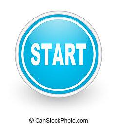 start icon - blue web button