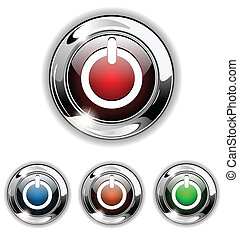 Start icon, button, vector illustra