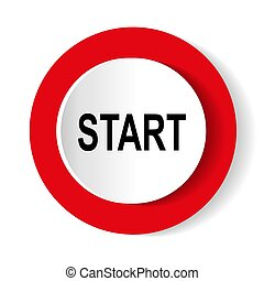 start icon. Internet button