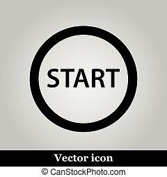 Start icon on grey background