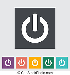 Start icon. Vector illustration EPS.