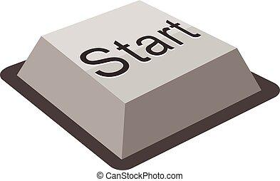 start keyboard button