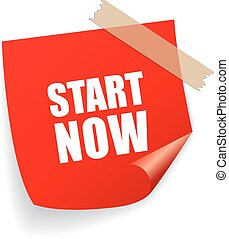 Start now motivational sticker