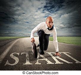 Start of business career