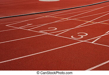 start on a running track