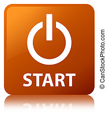 Start (power icon) brown square button