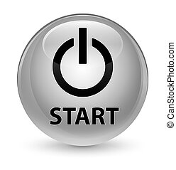 Start (power icon) glassy white round button