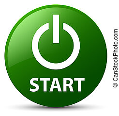 Start (power icon) green round button