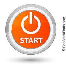 Start (power icon) prime orange round button