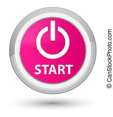 Start (power icon) prime pink round button