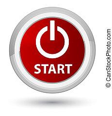 Start (power icon) prime red round button