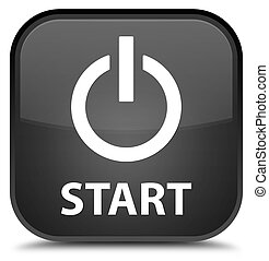 Start (power icon) special black square button