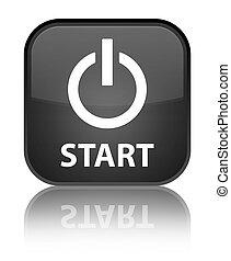 Start (power icon) special black square button