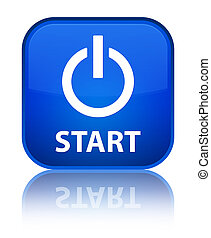 Start (power icon) special blue square button