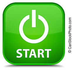 Start (power icon) special green square button