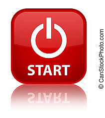 Start (power icon) special red square button