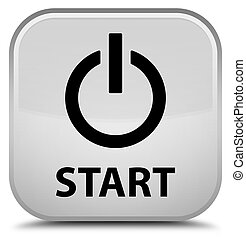 Start (power icon) special white square button