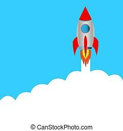 start, raket, ruimte