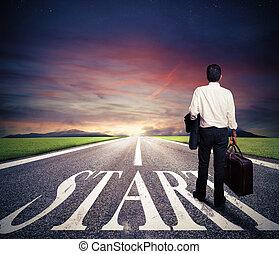 start, recht, concept, zakelijk