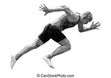 start, rennender , sprinter, mann