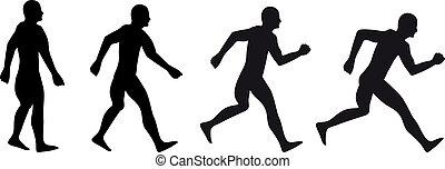 start running silhouette