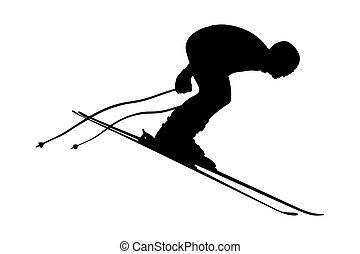 start skier athlete