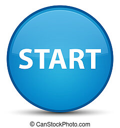 Start special cyan blue round button