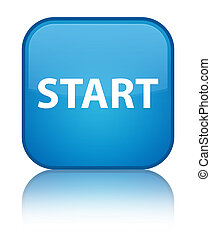 Start special cyan blue square button