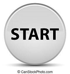 Start special white round button