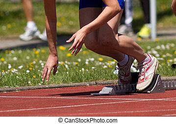 start, sprint