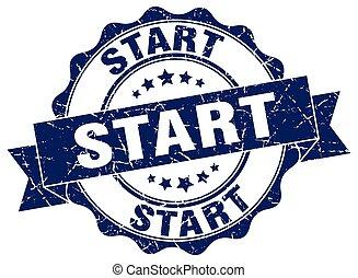 start stamp. sign. seal