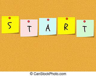 Start Sticky Notes on bulletin board