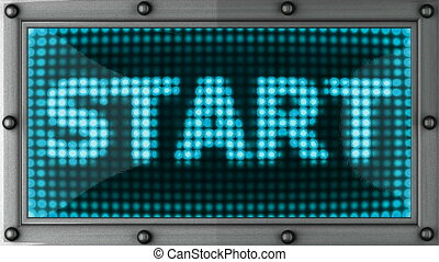 start  announcement on the LED display