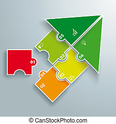 Start Success Colored Arrow Puzzle Infographic - Infographic...