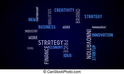 start-up, animation, -, typographie