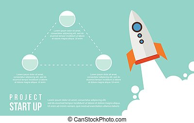Start up business infographic step concept