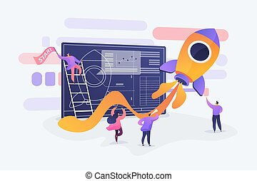 Start up concept vector illustration