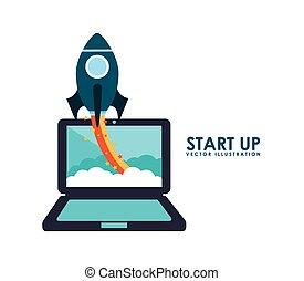 start up design , vector illustration