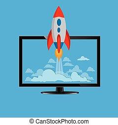 start up design, vector illustration
