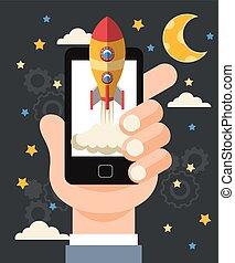 Start up flat vector illustration design