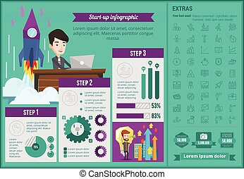 start-up, infographic, template., business